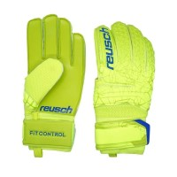 Sarung Tangan Keeper Reusch Fit Control SD 5583 - Lime Safety Yellow