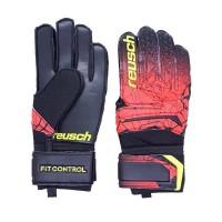 Sarung Tangan Keeper Reusch Fit Control SD 7039 - Black/Fire Red