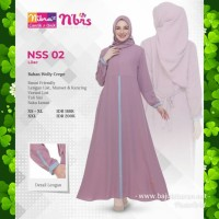 Gamis Nibras NSS 002 Warna Ungu Lilac Dress Soft Pastel Busui Lebaran