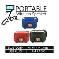 Speaker Bluetooth Stereo Wireless JBL TG162 LED Portable Mega Bass - Hitam