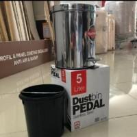 Dustbin pedal / maspion tempat sampah injak 5 liter