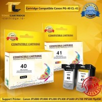 Cartridge Canon PG40 + CL41 PG 40 + CL 41 PG-40 + CL-41 1 Set Recycle