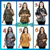 Batik Baju Blouse Atasan Wanita 6 Motif Pilihan Seragam Serut B.E885