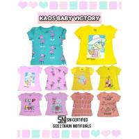 Kaos Anak Baby Victory Size 2 Tahun Motif Girl Perempuan