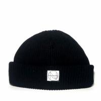 Short beanie hat skate black original nowpaps.kupluk hitam nowpaps ori