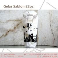 GELAS 22 OZ SABLON LONDON TANPA TUTUP