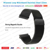 Strap Stainless Milanese Watch 22mm Tali Jam Magnet Metal band gear s3