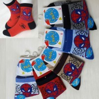 kaos kaki anak cowo laki-laki 8-12 tahun spiderman, captain amerika