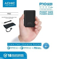 ACMIC P10PRO Mini Powerbank 10000mAh Quick Charge 3.0 + PD