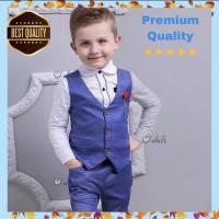 Set Rompi Anak Formal + Baju + Celana / Set Tuxedo Anak Premium