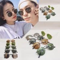 kacamata round vintage glasses lens fashion unisex