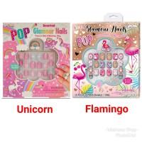 Mainan Kuku Hias Anak Pop Glamour Unicorn Flamingo Nails Hot Focus