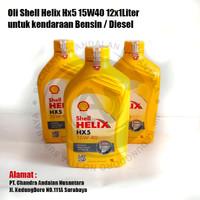 Oli Shell Helix Hx5 15W40 12x1Liter untuk kendaraan Bensin / Diesel