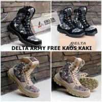 sepatu pria DELTA army safety tactical ujung besi tinggi 8 inci origin