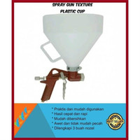 Jual Spray Gun Texture Plastic Cup Spray Cat Tekstur Limited