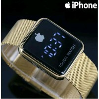 JAM TANGAN PRIA IPHONE APPLE WATCH FREE BATERAI DAN BOX