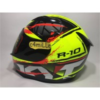 HELM KYT R10 2 YELLOW FLUO BLACK RED FLUO FULL FACE