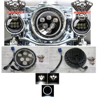 Daymaker 7 inch Pyramid with Halo DRL Daymaker harley rubicon w175