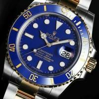 jam tangan ROLEX SUBMARINER kombinasi blue dan gold authentic origin