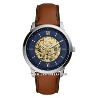 Fossil ME3160 Neutra Automatic Men Skeleton Dial Brown Leather Strap