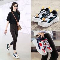 New Oldpapa Sepatu Ulzzang Sneakers Sol Tebal Fashion Wanita Sepatu