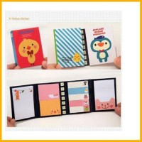 bekasi! sticky notes bentuk korea buku gambar model animal