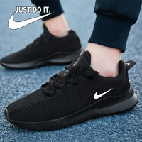 Sale Nik'e Sepatu Airmax Black Sekolah Kuliah Murah Running Jogging