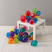 [1 BUNGKUS] BALON RAINBOW MINI warna mix balon karet jari dekorasi