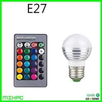 Lampu Bohlam LED RGB 3W 16 Colors with Remote Control - E27