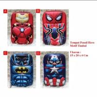 Tempat Kotak Pensil Hardcase Motif Timbul Karakter Avengers