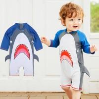 Baju Renang Swimsuit Baby Bayi laki Shark Jumpsuit