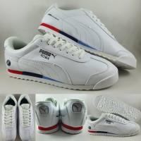 Sepatu Kets Puma Roma Leather BMW MMS White Putih