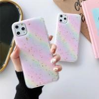 Casing VIVO V15 PRO RAINBOW Glitter Color Soft Case