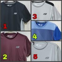 Skechers Man Running Sport Shirt Baju Kaos Atasan Olahraga Pria Cowok
