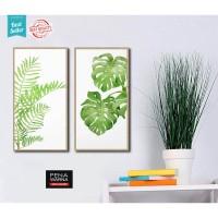 1 set | hiasan | gantungan dinding |poster monstera |kayu |wall decor