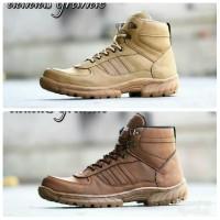 Sepatu boot tactical tracking adidas safety ujung besi krem - Krem, 39