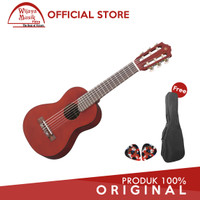 Yamaha Gitar Mini GL-1/GL1/GL 1 Persimmon Brown + Softcase & 2 Pick