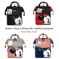 Tas Ransel Anello Disney Mickey Mouse 2 Tone Medium Grade Ori