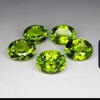 Batu Permata Peridot Green Peridot Good Luster Mix Cutting