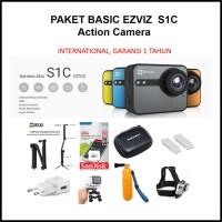 Paket Basic Ezviz S1C Action Camera Dash Camera Aksesoris Full HD LCD