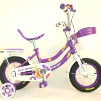 sepeda anak perempuan mini 12 evergreen Daisy
