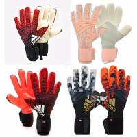 Predator Pro Goalkeeper Gloves Sarung Tangan Kiper TULANG Merah Hitam