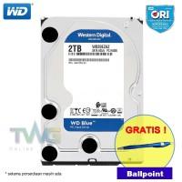 WD Blue 2TB Hardisk PC Desktop - GARANSI 100% ORIGINAL