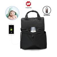 TIGERNU T-B3355 Diaper Baby Backpack Bag - Tas Ransel Bayi DARK GREY