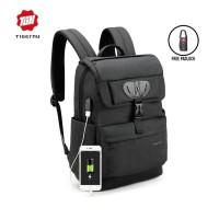 "TIGERNU T-B3513 Backpack Bag USB - Tas Ransel Laptop 15.6 ""- DARK GREY"