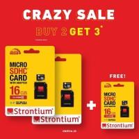 CRAZY SALE - Beli 2 Dapet 3 - Strontium Nitro MicroSD Card 85MBs 16GB