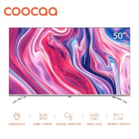 COOCAA LED TV 50 inch 4K Android Smart TV -Wifi -Infinity View (50S6G)