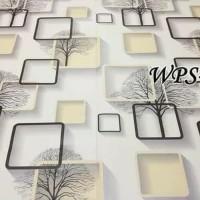 Home Wallpaper Sticker Dinding Kotak Coklat - 45cm x 10 m