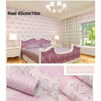 Home Wallpaper Sticker Dinding Batik Pink - 45cm x 10 m