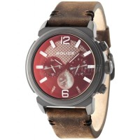 POLICE Concept Multifunction Brown Leather Strap 14377JSB/02